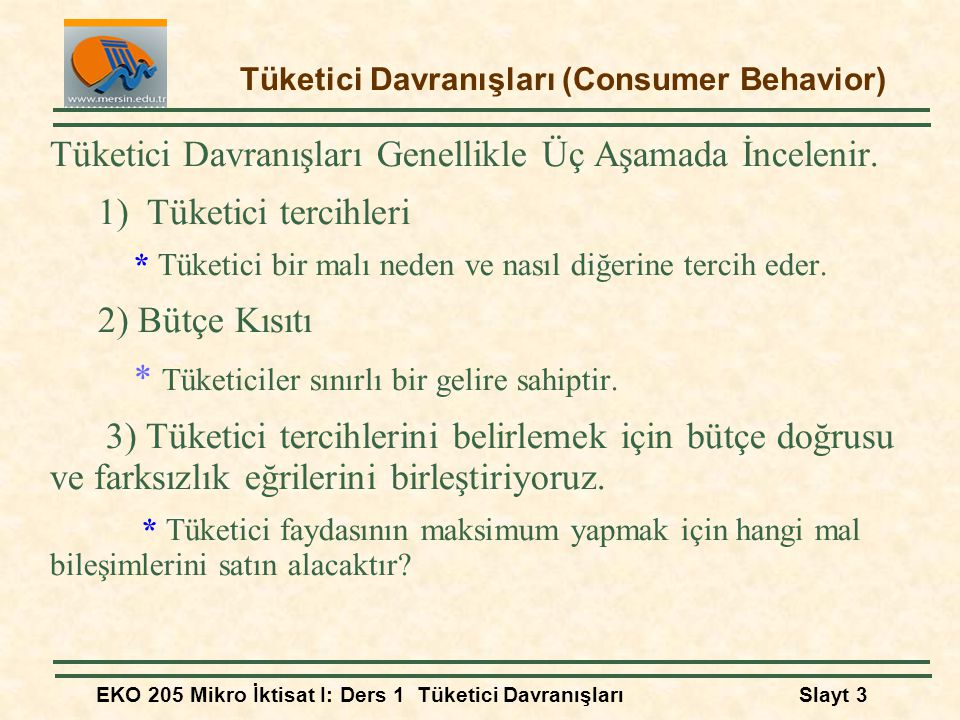 Tüketici Davranışları (Consumer Behavior)