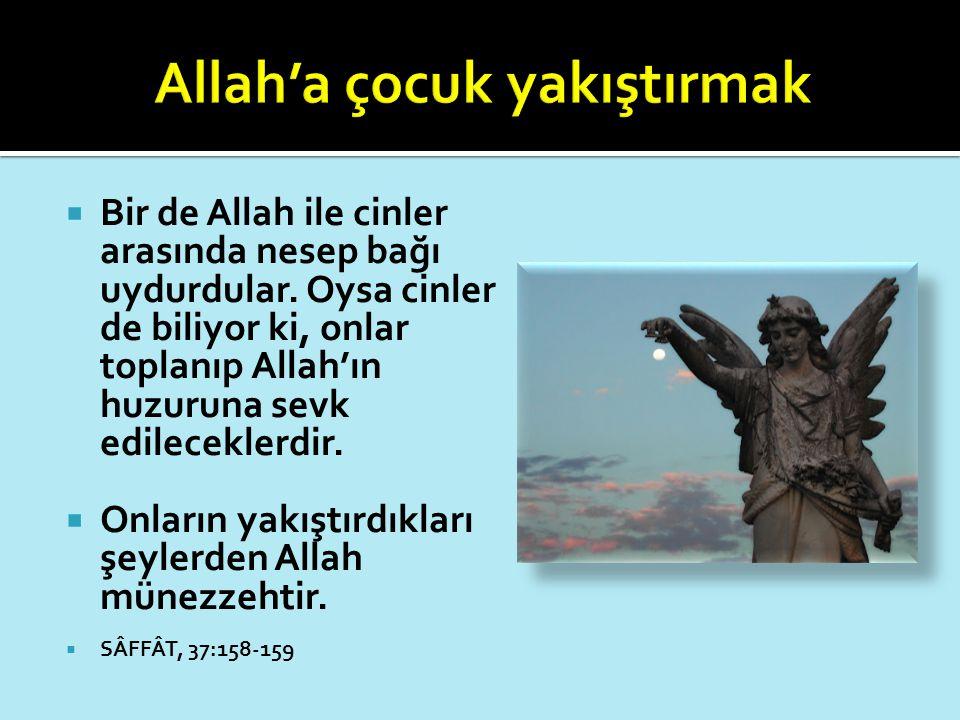 Allah'a çocuk yakıştırmak