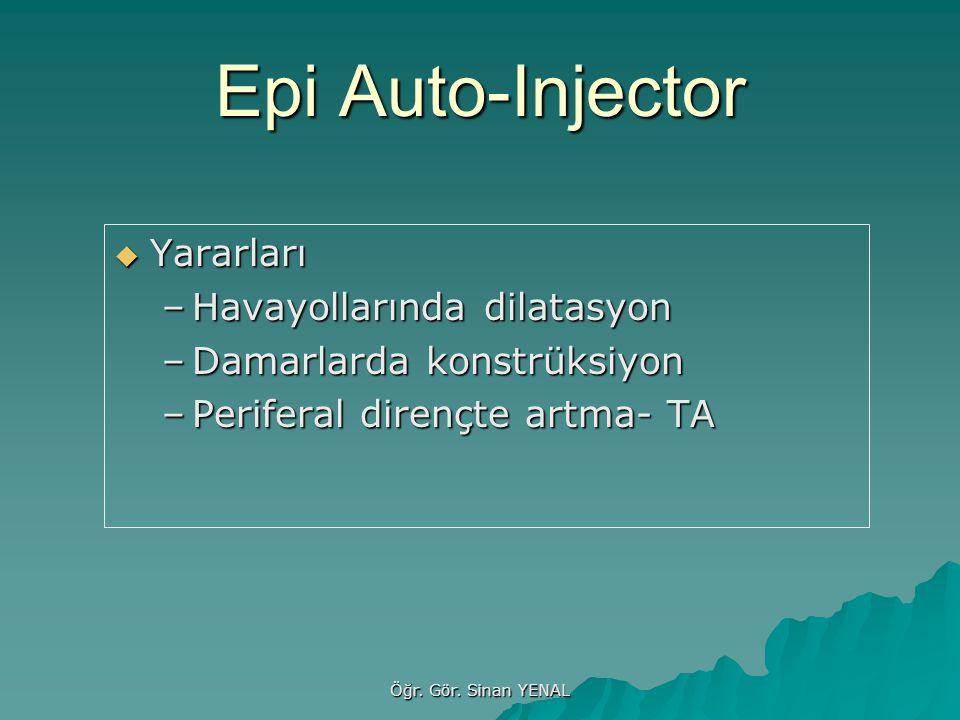 Epi Auto-Injector Yararları Havayollarında dilatasyon