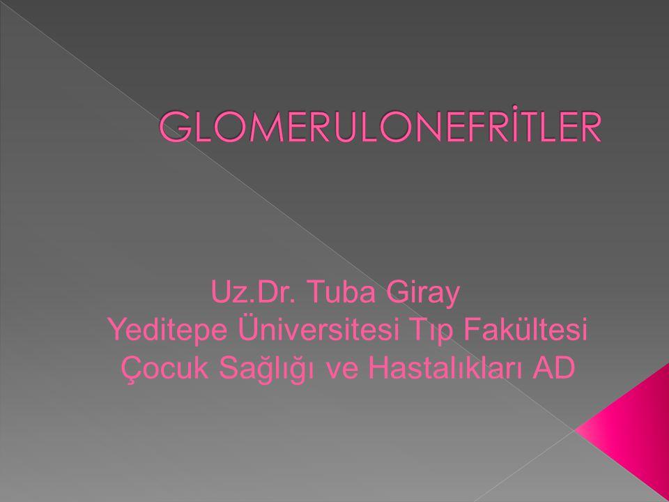Uz.Dr. Tuba Giray Yeditepe Üniversitesi Tıp Fakültesi Çocuk Sağlığı ve Hastalıkları AD
