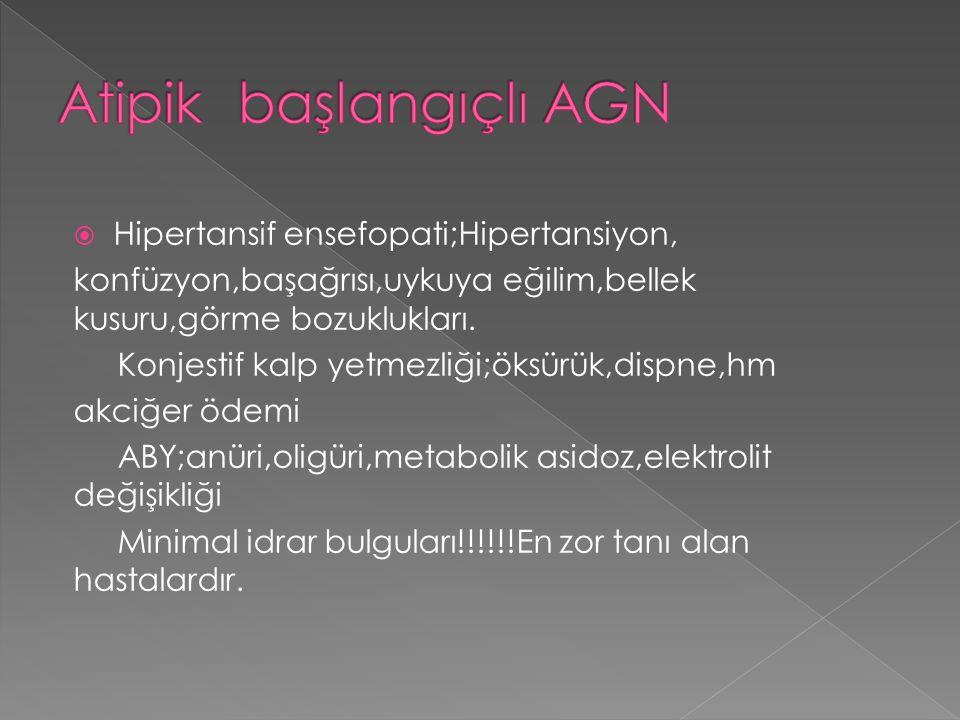Atipik başlangıçlı AGN