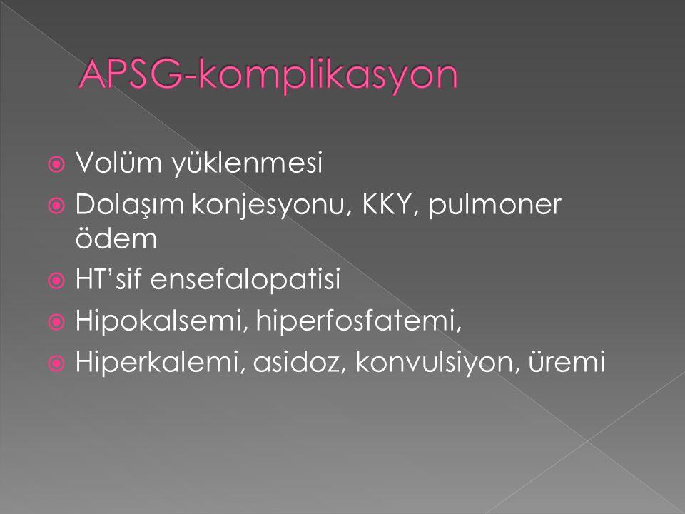 APSG-komplikasyon Volüm yüklenmesi