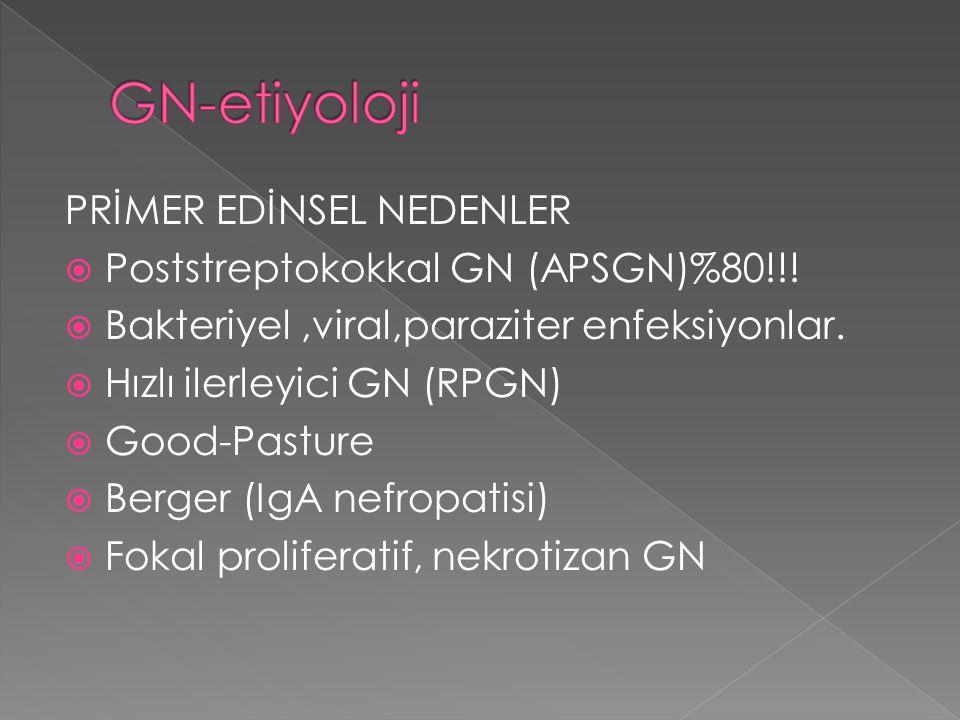 GN-etiyoloji PRİMER EDİNSEL NEDENLER
