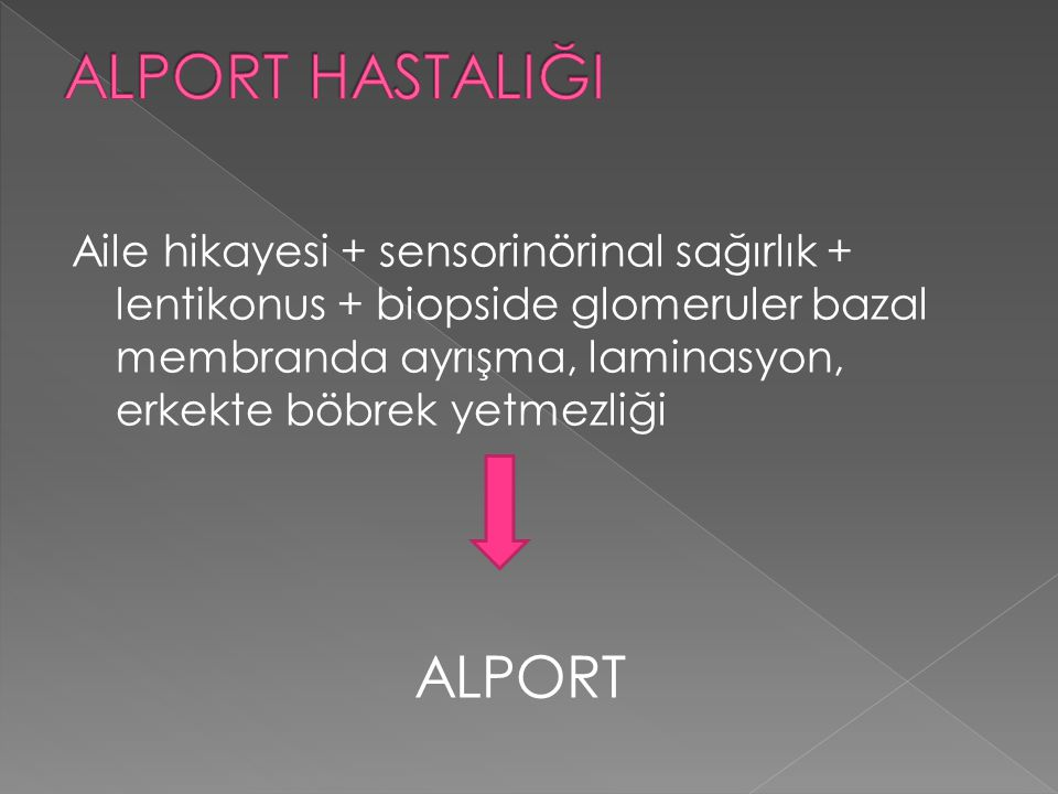 ALPORT HASTALIĞI ALPORT
