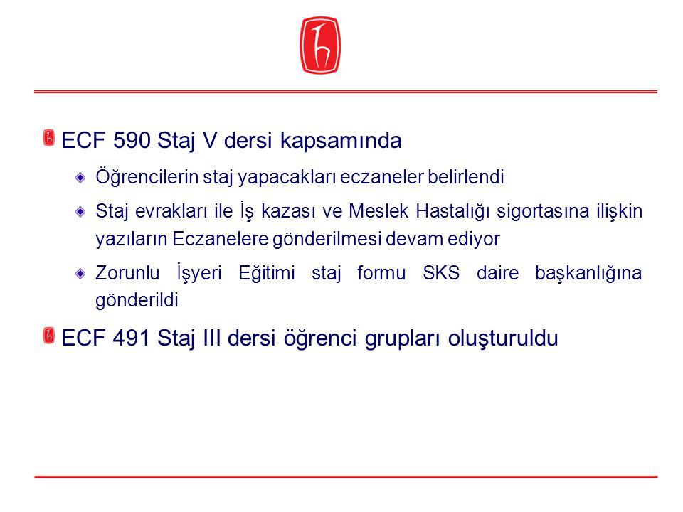 ECF 590 Staj V dersi kapsamında