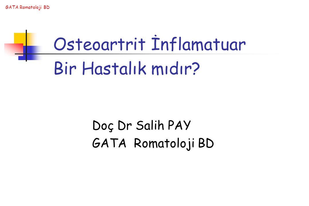 Osteoartrit İnflamatuar Bir Hastalık mıdır