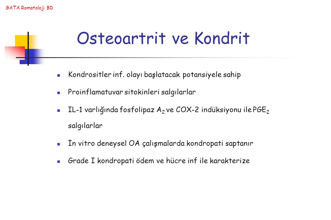 Osteoartrit ve Kondrit
