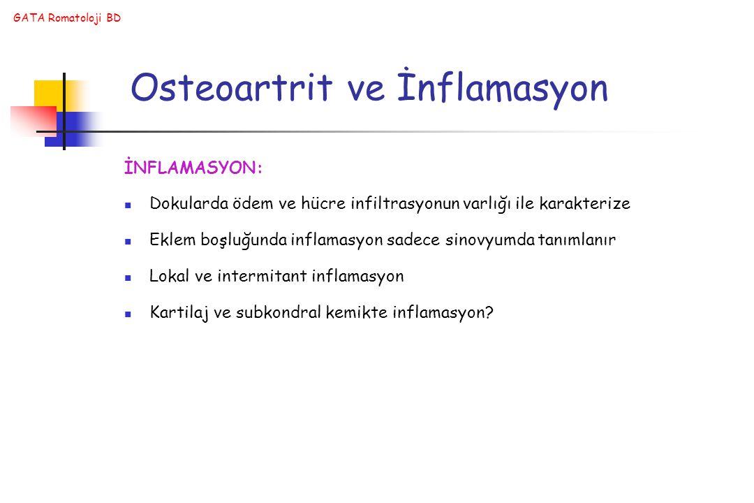 Osteoartrit ve İnflamasyon