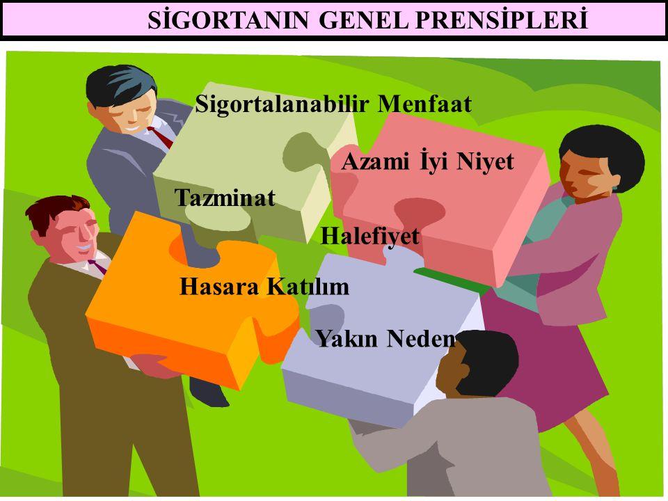 SİGORTANIN GENEL PRENSİPLERİ