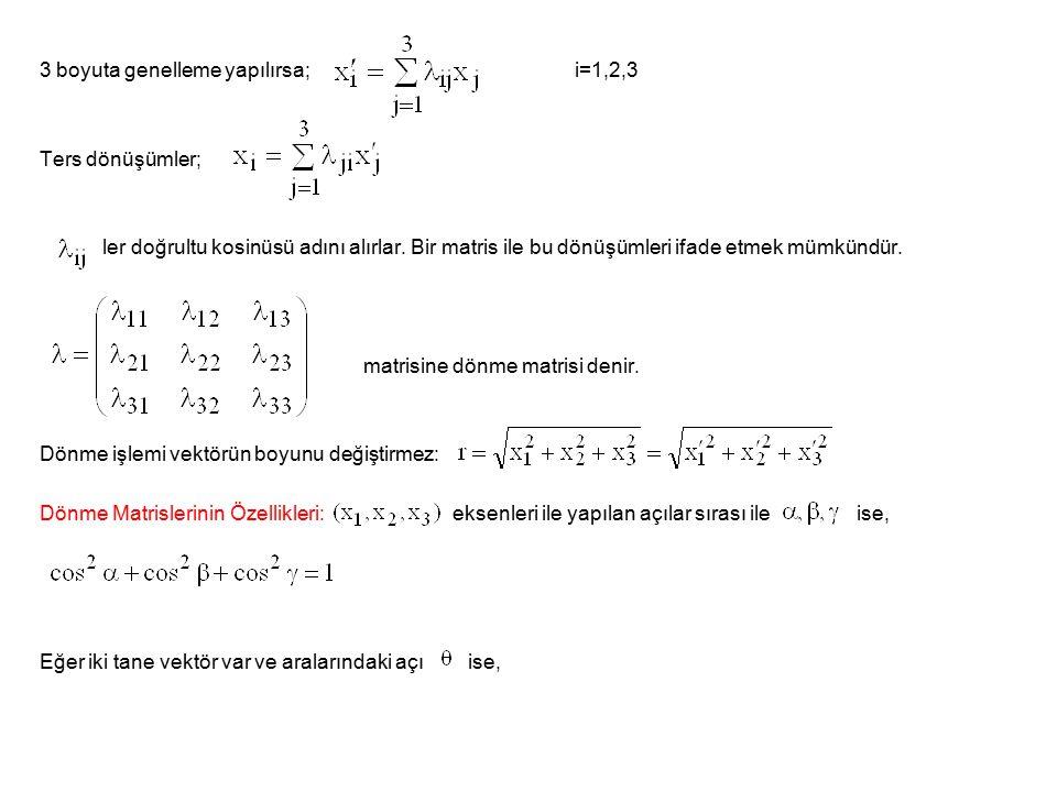 3 boyuta genelleme yapılırsa; i=1,2,3