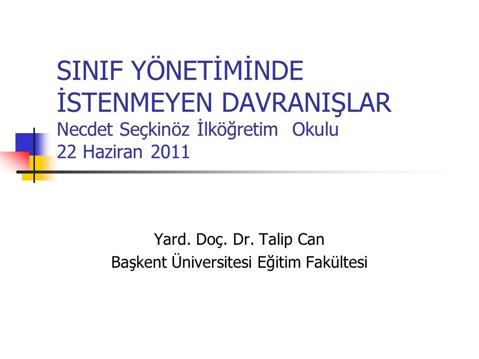 Yard. Doç. Dr. Talip Can Başkent Üniversitesi Eğitim Fakültesi
