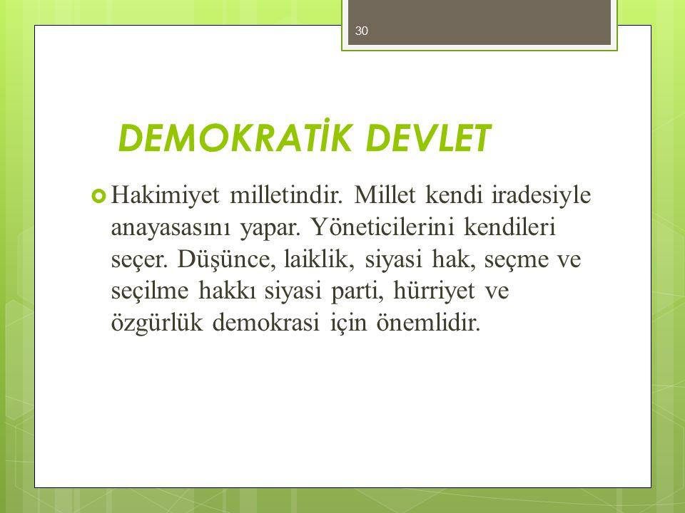DEMOKRATİK DEVLET