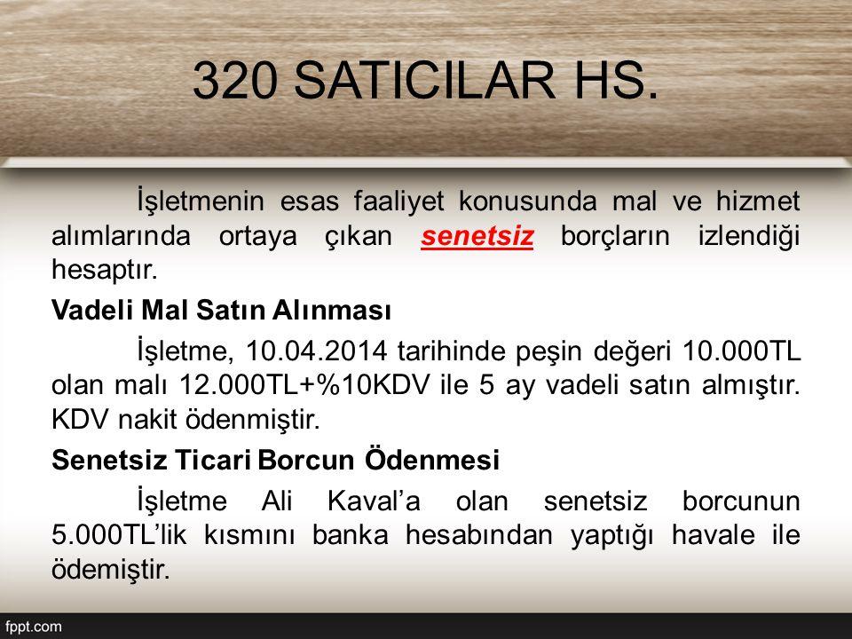 320 SATICILAR HS.