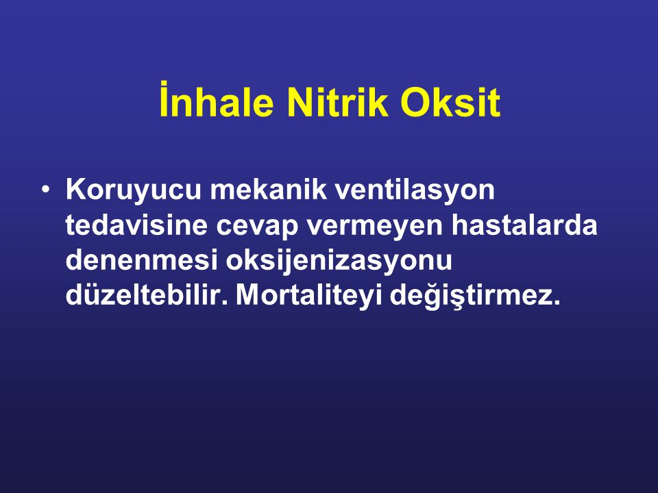 İnhale Nitrik Oksit