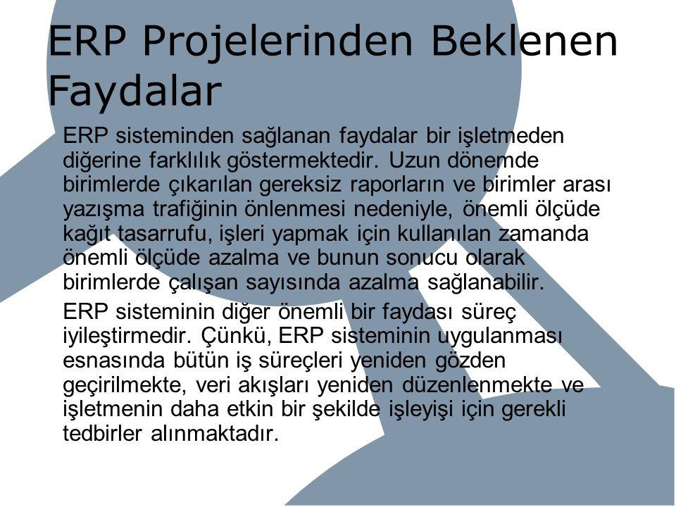 ERP Projelerinden Beklenen Faydalar