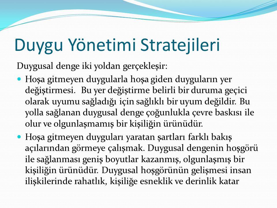 Duygu Yönetimi Stratejileri