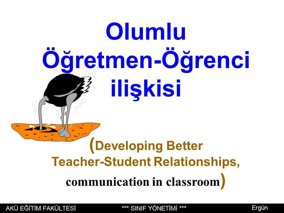 Öğretmen-Öğrenci ilişkisi