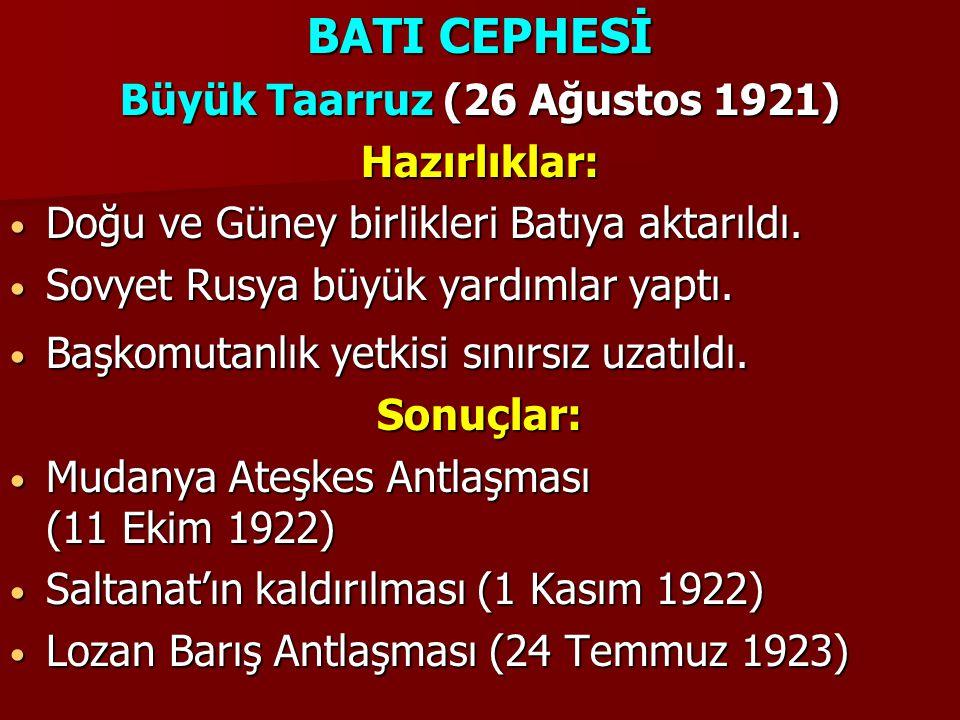 Büyük Taarruz (26 Ağustos 1921)