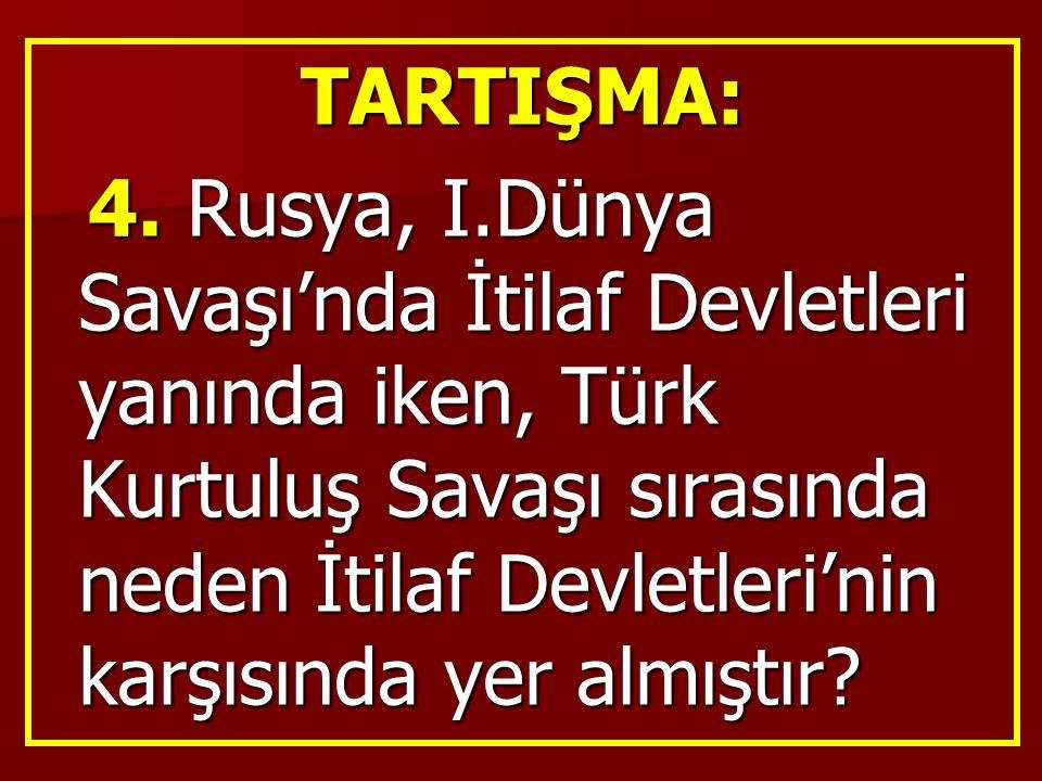 TARTIŞMA: