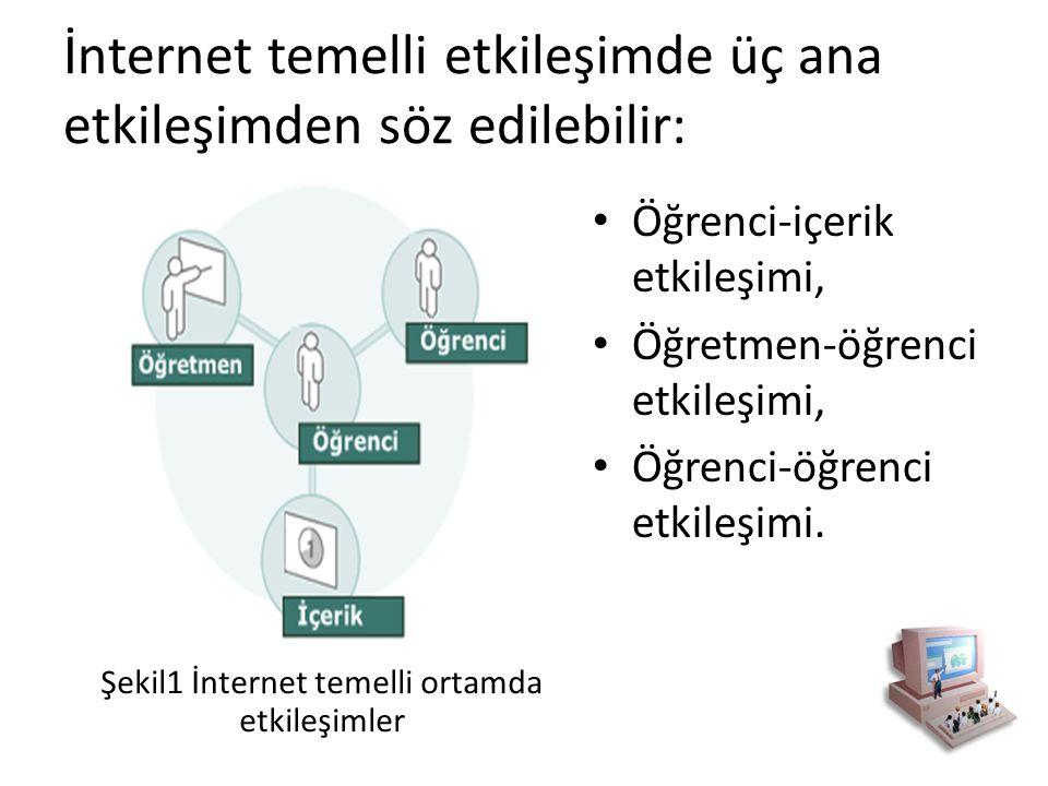 İnternet temelli etkileşimde üç ana etkileşimden söz edilebilir: