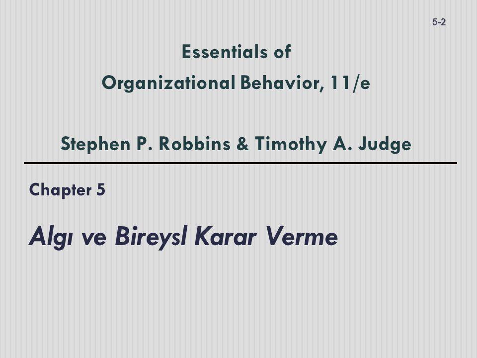 Chapter 5 Algı ve Bireysl Karar Verme