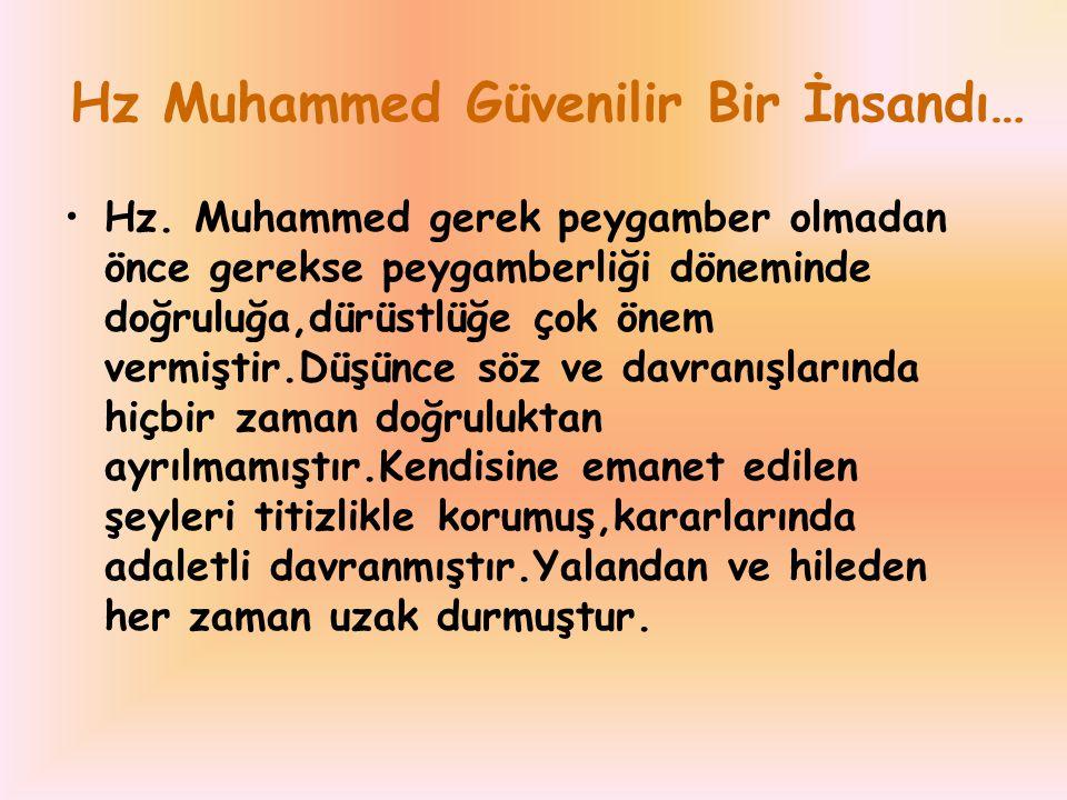 Hz Muhammed Güvenilir Bir İnsandı…