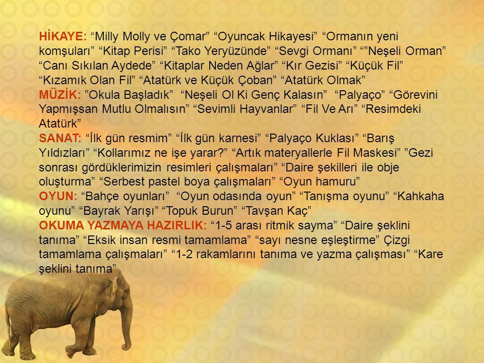 HİKAYE: Milly Molly ve Çomar Oyuncak Hikayesi Ormanın yeni komşuları Kitap Perisi Tako Yeryüzünde Sevgi Ormanı Neşeli Orman Canı Sıkılan Aydede Kitaplar Neden Ağlar Kır Gezisi Küçük Fil Kızamık Olan Fil Atatürk ve Küçük Çoban Atatürk Olmak