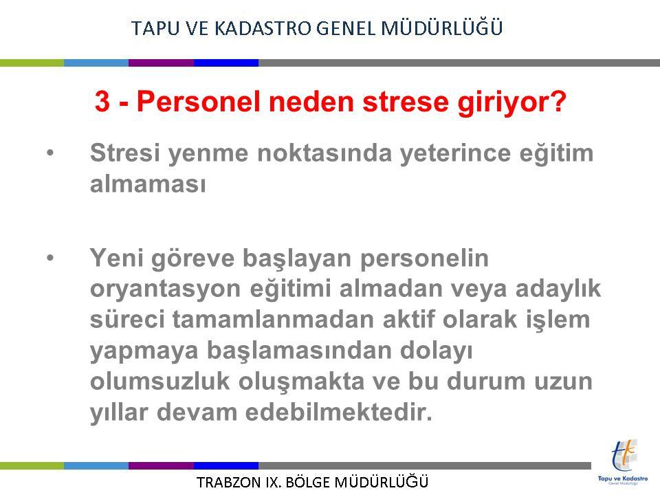 3 - Personel neden strese giriyor