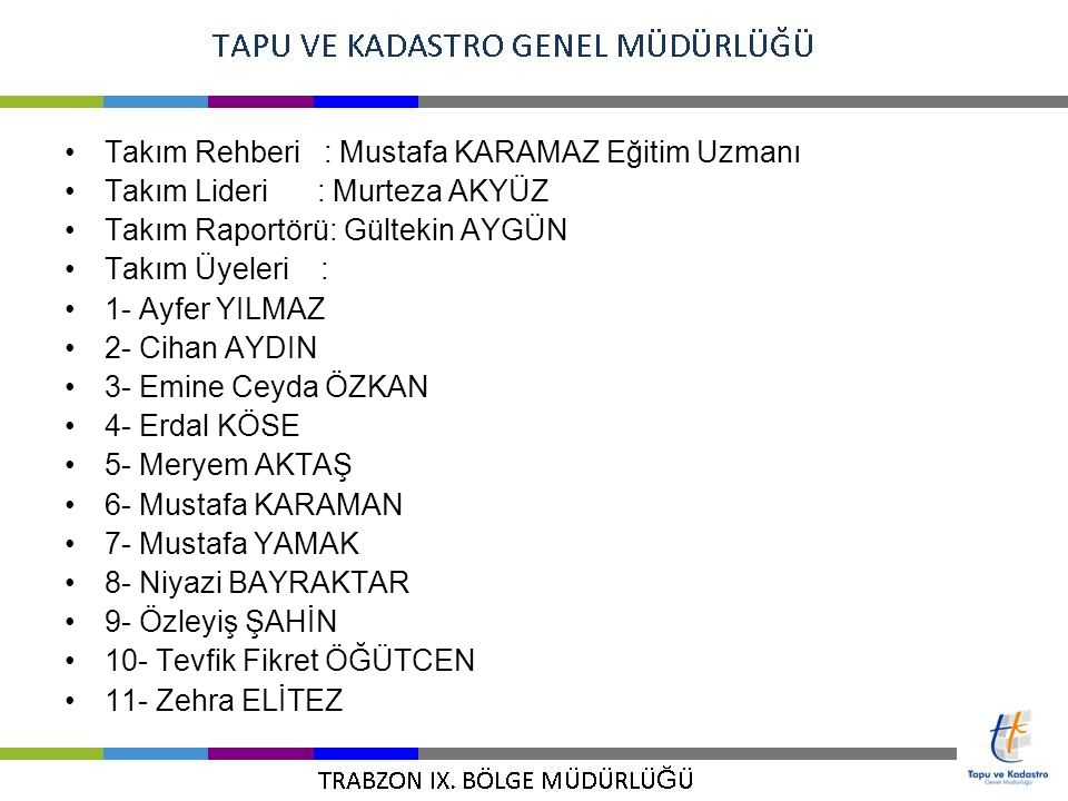 Takım Rehberi : Mustafa KARAMAZ Eğitim Uzmanı