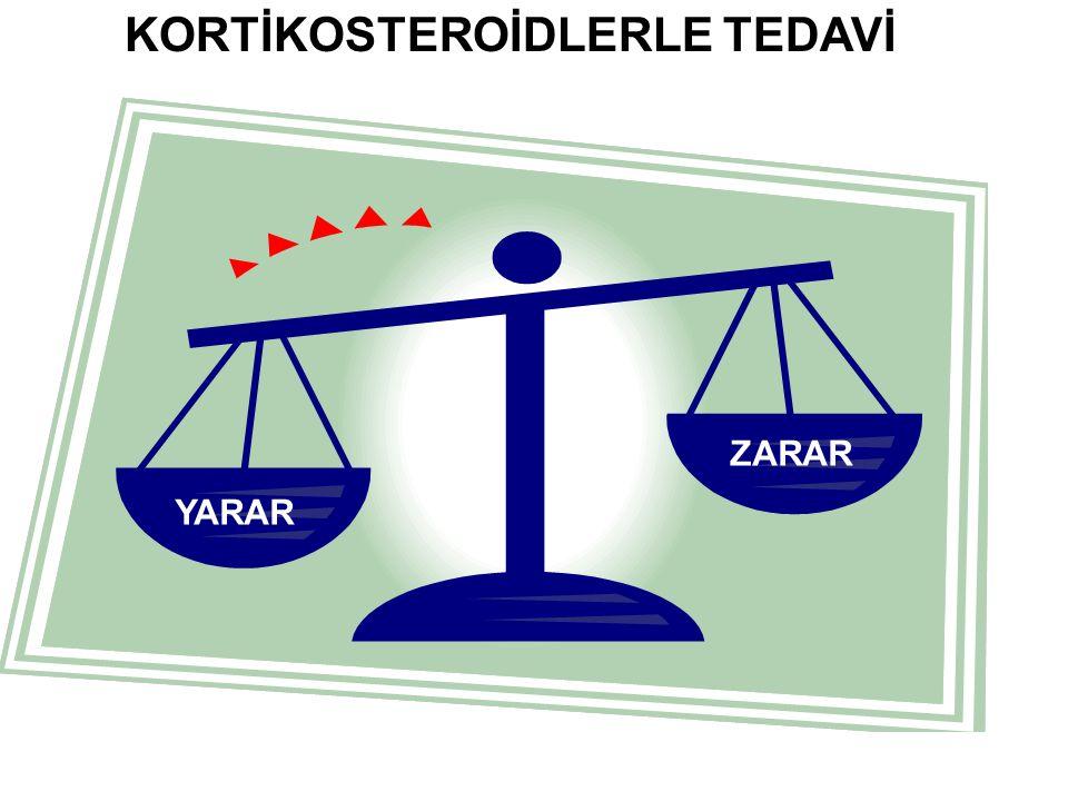 KORTİKOSTEROİDLERLE TEDAVİ