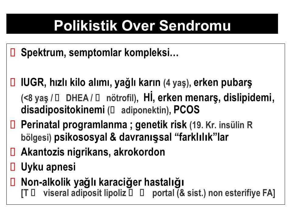 Polikistik Over Sendromu ü Spektrum, semptomlar kompleksi … ü IUGR, h