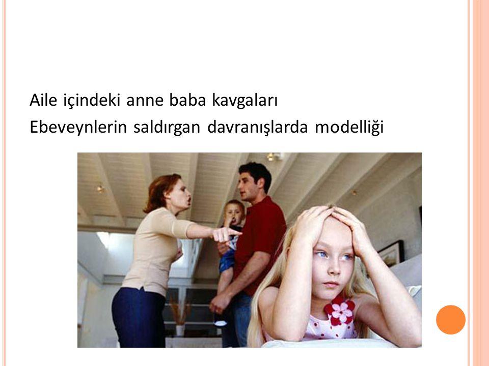 Aile içindeki anne baba kavgaları Ebeveynlerin saldırgan davranışlarda modelliği