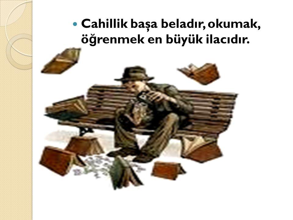 Cahillik başa beladır, okumak, öğrenmek en büyük ilacıdır.
