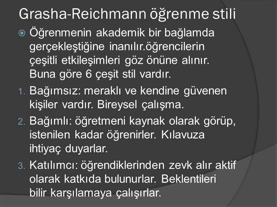 Grasha-Reichmann öğrenme stili