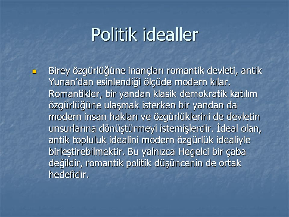 Politik idealler
