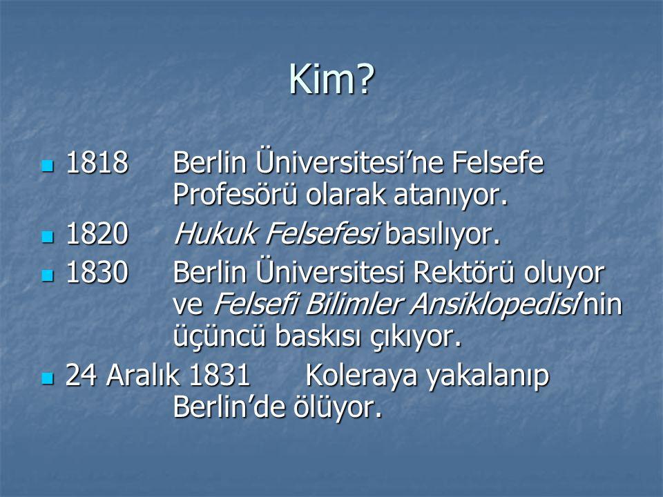 Kim 1818 Berlin Üniversitesi'ne Felsefe Profesörü olarak atanıyor.