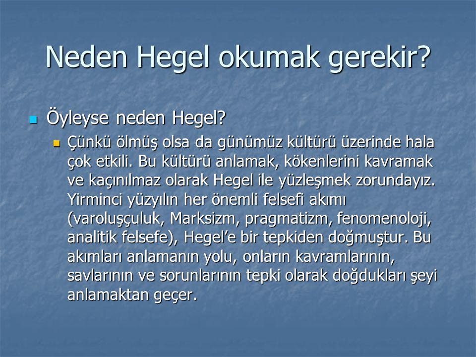 Neden Hegel okumak gerekir