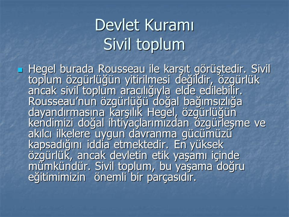 Devlet Kuramı Sivil toplum