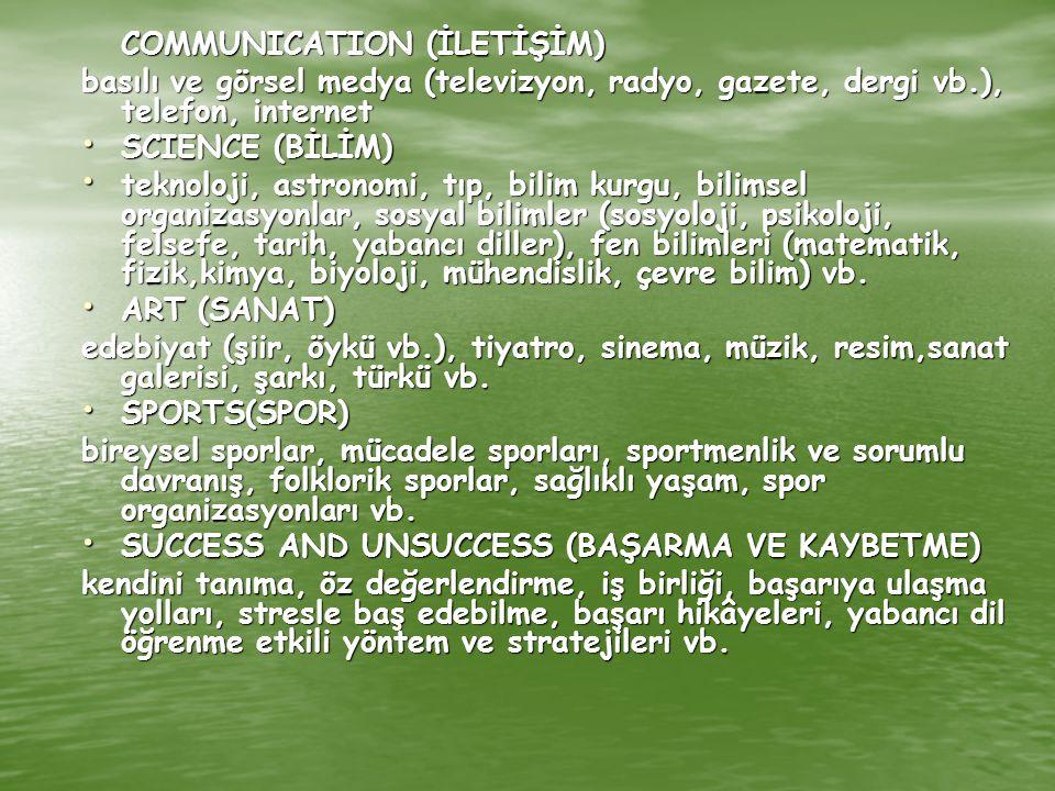 SUCCESS AND UNSUCCESS (BAŞARMA VE KAYBETME)