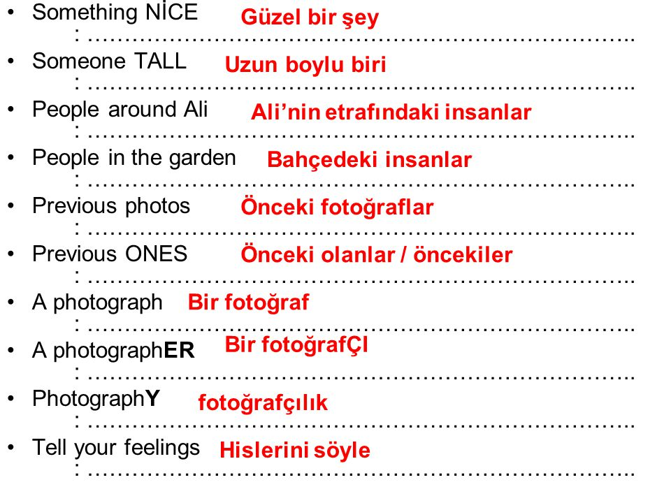 Something NİCE : ………………………………………………………………..