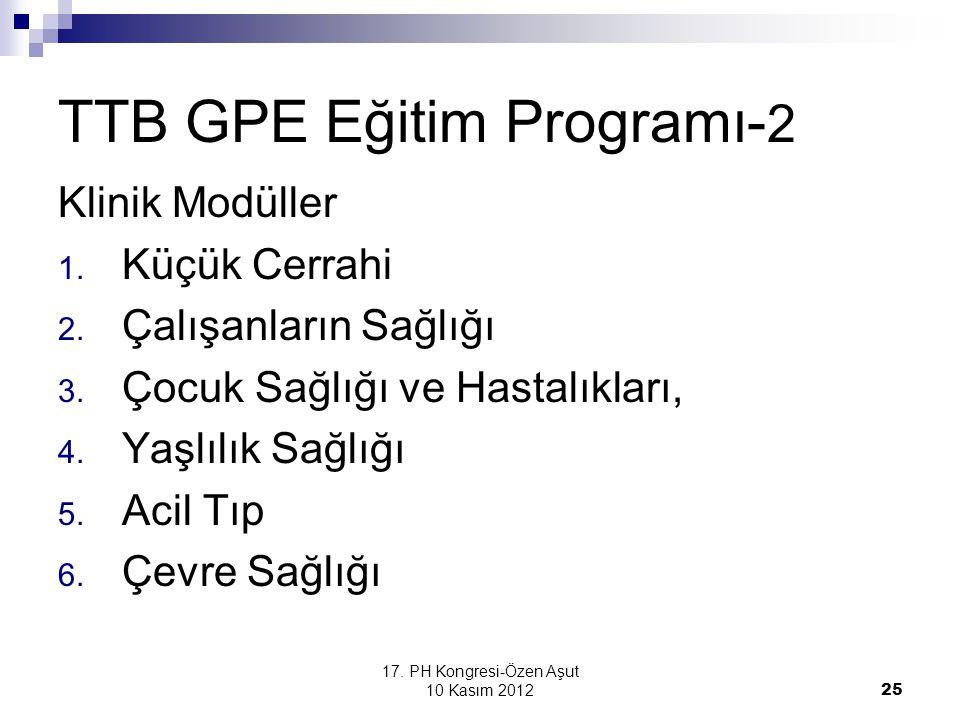TTB GPE Eğitim Programı-2