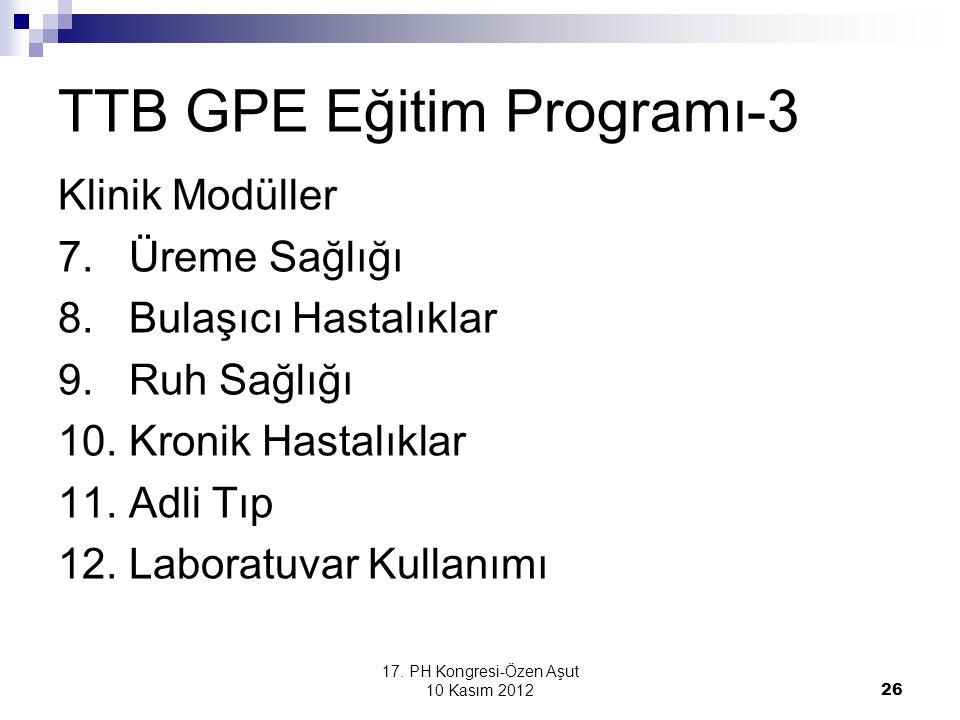 TTB GPE Eğitim Programı-3