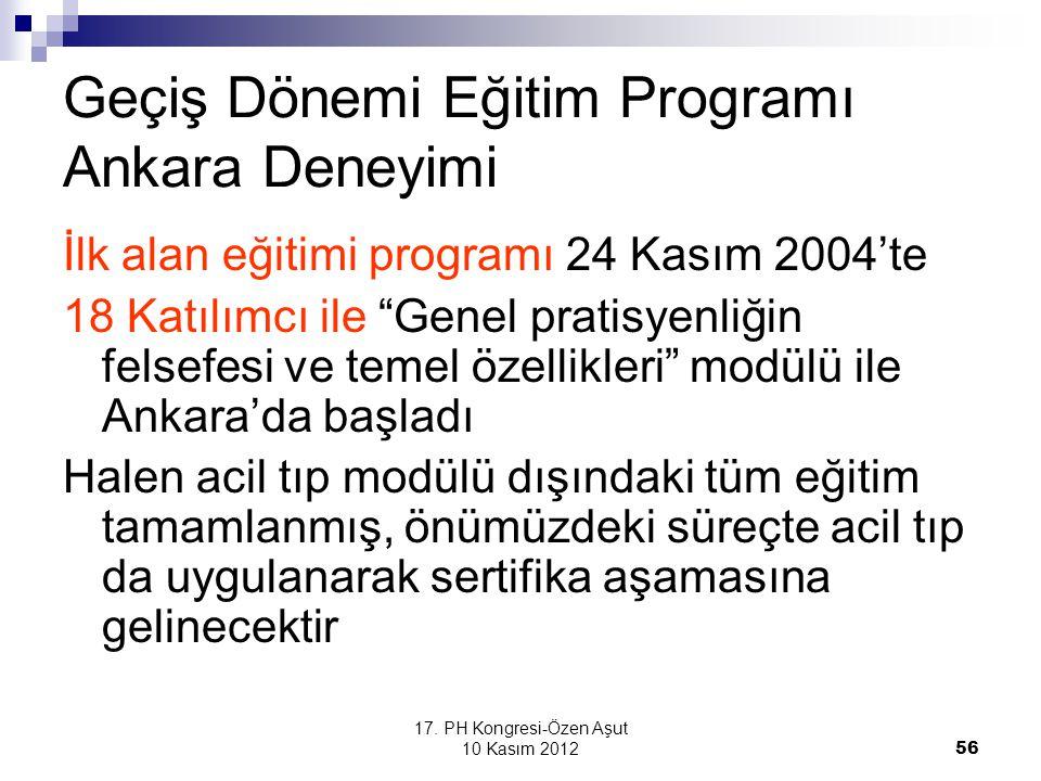 Geçiş Dönemi Eğitim Programı Ankara Deneyimi