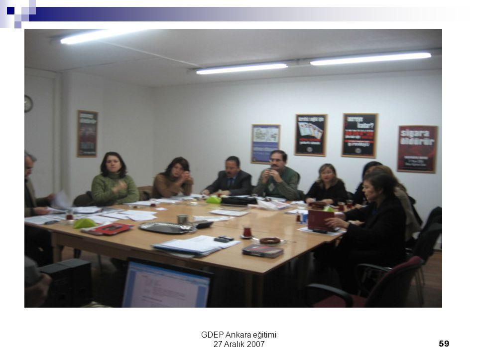 GDEP Ankara eğitimi 27 Aralık 2007