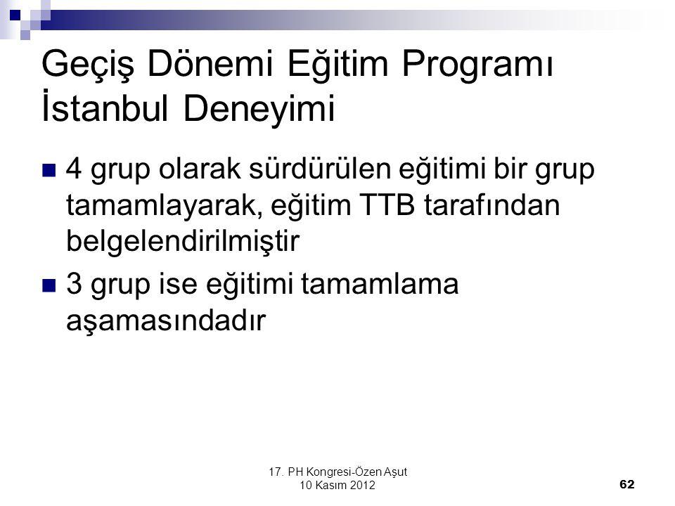 Geçiş Dönemi Eğitim Programı İstanbul Deneyimi