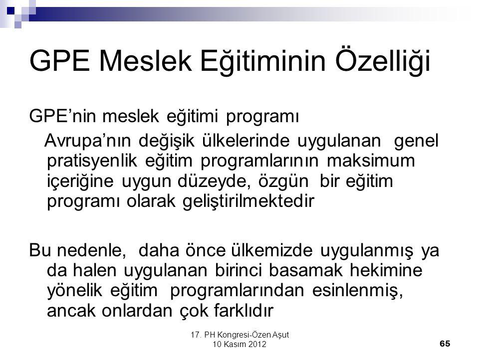 GPE Meslek Eğitiminin Özelliği