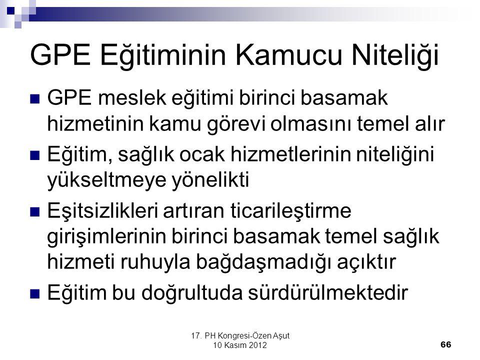 GPE Eğitiminin Kamucu Niteliği
