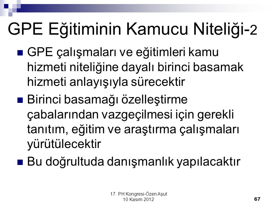 GPE Eğitiminin Kamucu Niteliği-2