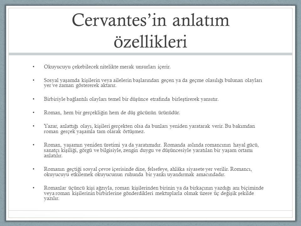 Cervantes'in anlatım özellikleri