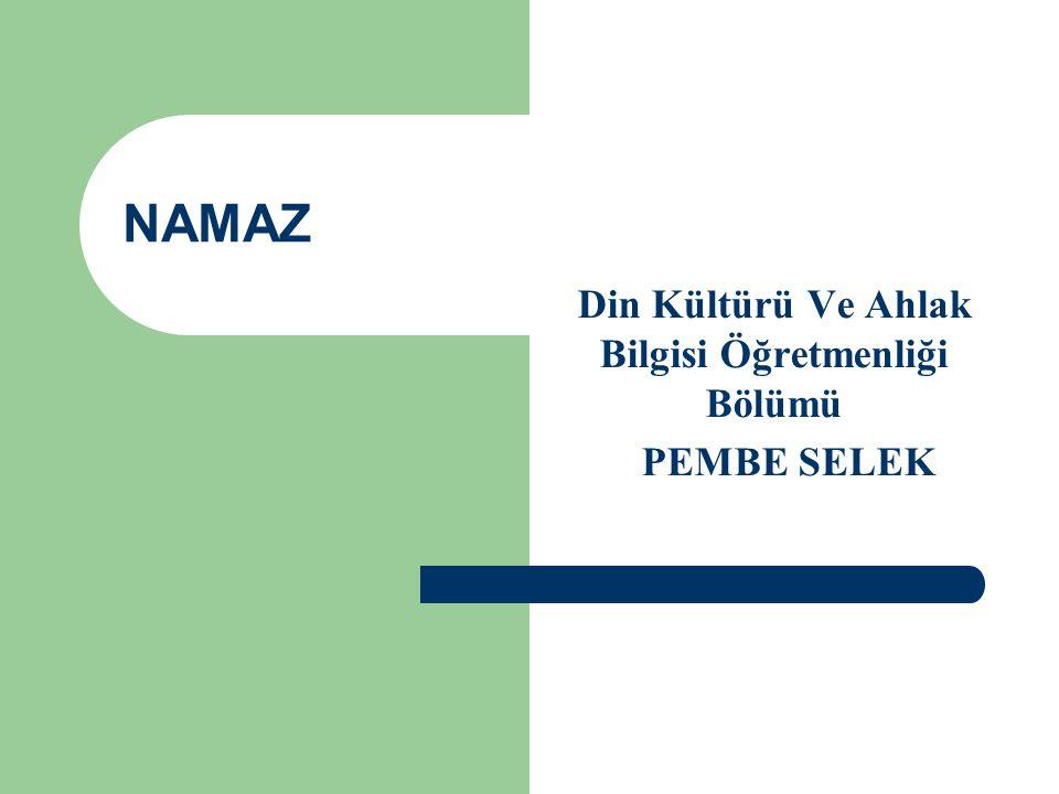 Din Kültürü Ve Ahlak Bilgisi Öğretmenliği Bölümü PEMBE SELEK